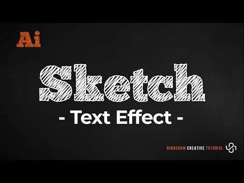 Sketch Text Effect | Illustrator Tutorial thumbnail
