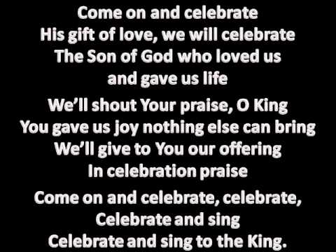 celebrate love lyrics