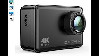 Unboxing DBPOWER EX7000 4K Action Camera, 14MP Touchscreen Wide Angle 2.4G Remote Control