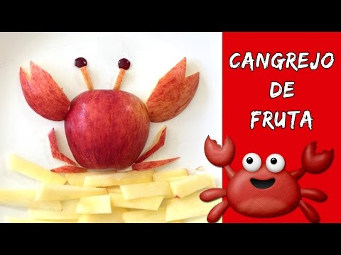 Cangrejo de fruta * MERIENDAS FÁCILES y rápidas para niños