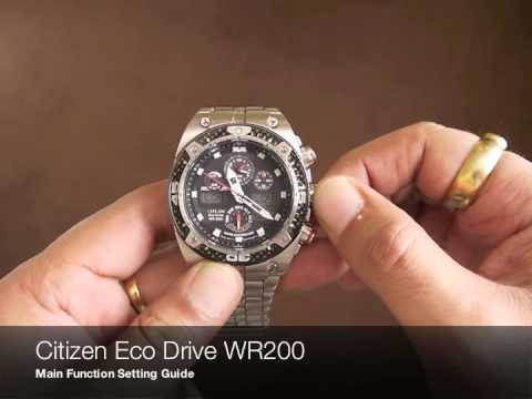 70fdc7af9dc Citizen Eco Drive WR200 - YouTube