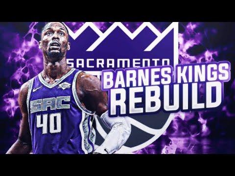 BEST YOUNG CORE? HARRISON BARNES KINGS REBUILD! NBA 2K19