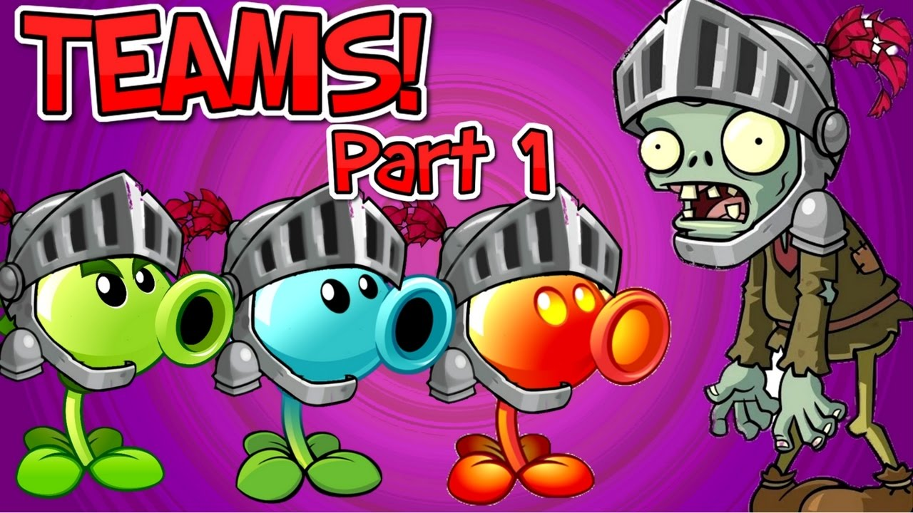 Plants vs. Zombies 2 It's About Time KNIGHT ZOMBIE vs Team ...