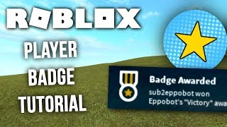 Roblox Tutorial - How to make and use Player Badges