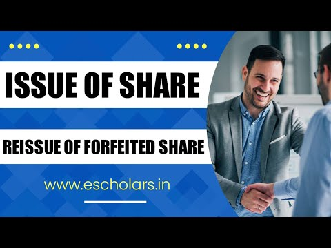 Issue of shares (Part:9) | Reissue of shares