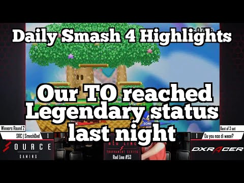 Daily Smash 4 Highlights: Our TO reached Legendary status last night