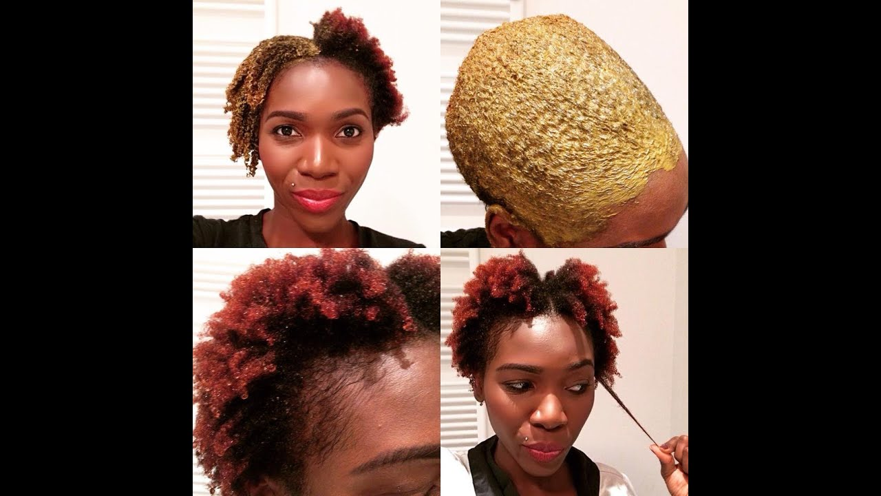Applying henna to natural hair