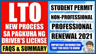 Cover images FAQ & SUMMARY | LTO NEW POLICY 2020 | Pag Apply ng Driver's License (STUDENT, NON-PRO, PRO, RENEWAL)