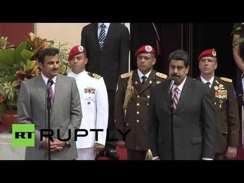 Venezuela: Maduro receives Emir of Qatar to discuss stabilisation of energy market