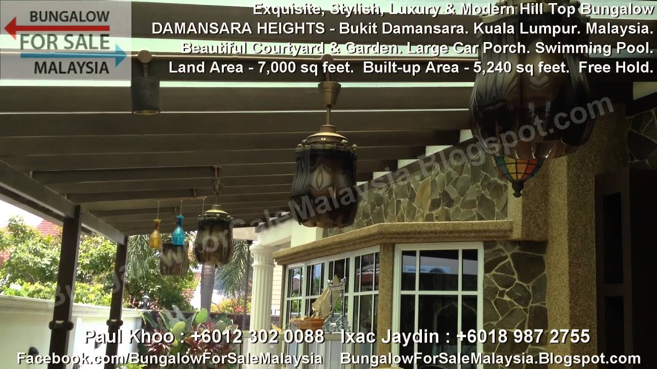 BUNGALOW FOR SALE - Hill Top Bungalow - Damansara Heights - Kuala ...