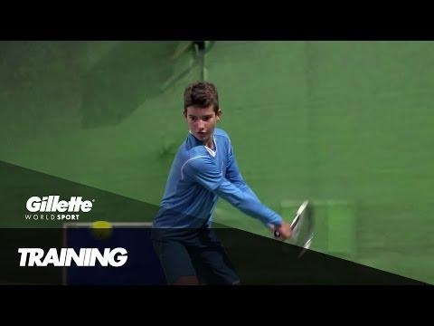 Precision Training with Tennis Prodigy Borna Devald | Gillette World Sport