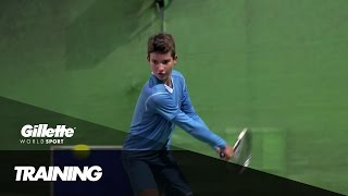 Precision Training with Tennis Prodigy Borna Devald | Gillette World Sport