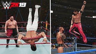WWE 2K19 Top 10 Crazy Springboard Moves!!