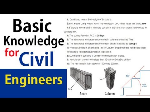 Basic Knowledge for Civil Engineers to remember on site - Civil Engineering Videos