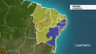 Previsão Nordeste – Chuva no litoral