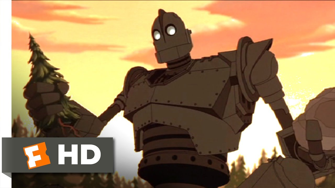 The Iron Giant 210 Movie Clip Rock And Tree 1999 Hd Youtube