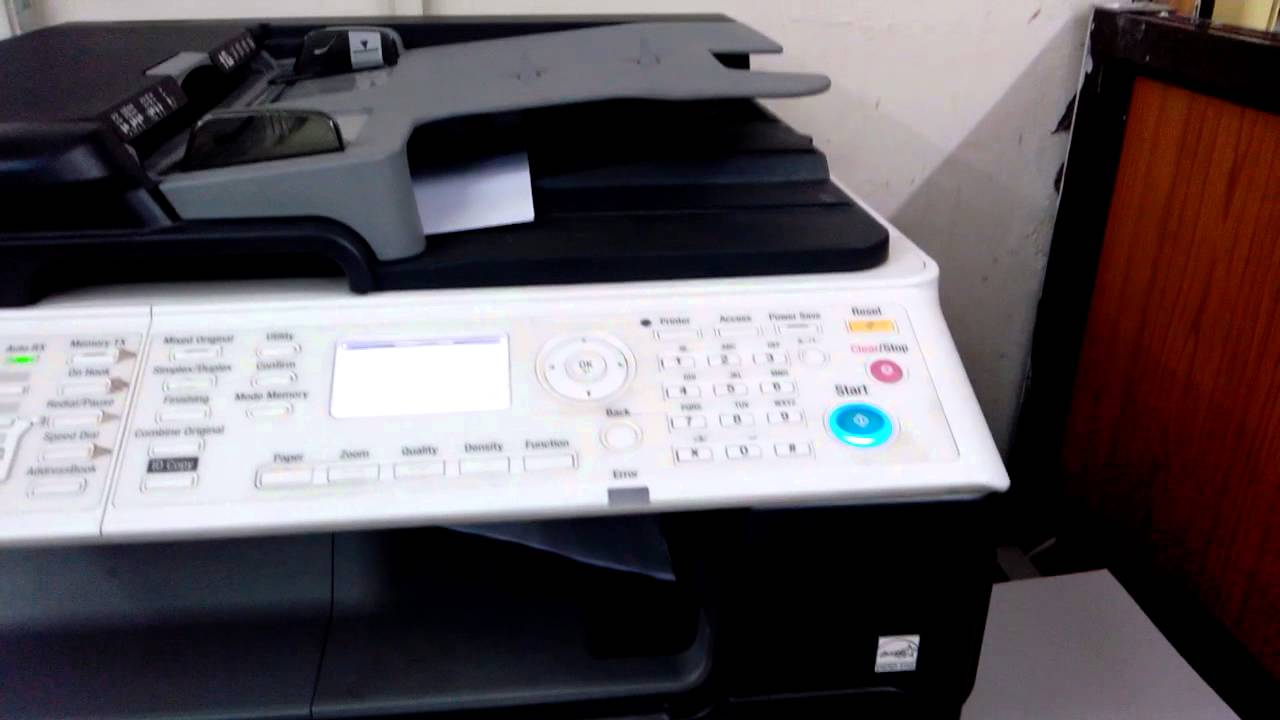 Konica minolta bizhub 215 copier printer scanner copyfaxes.