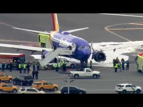 Southwest Airlines plane emergency landing in Philadelphia after an engine blew