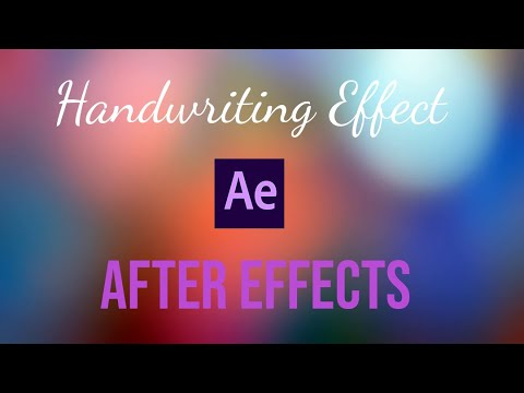 After Effects : Write Text Reveal Animation Tutorial thumbnail