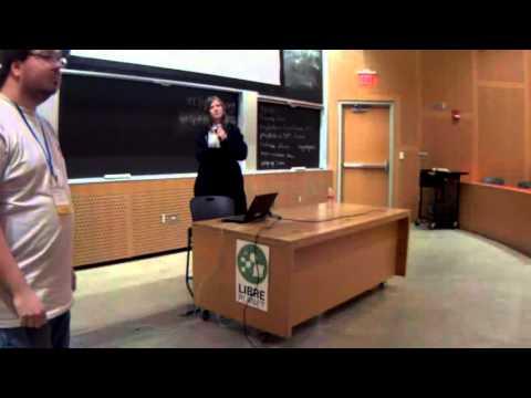 Brian Callahan and Lillian Seabreeze at LibrePlanet 2016 (Hypatia Software Organization Talk)