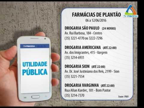 (JC 06/06/16) Farmácias de Plantão