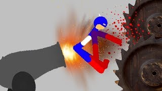 Stickman Dismount 3 Heroes Android Gameplay - Captain America Marvel Hero