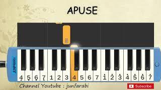 not pianika apuse - lagu daerah nusantara indonesia - belajar pianika not angka apuse