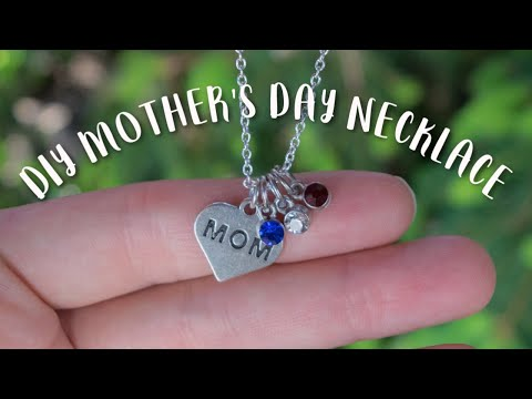 [last-minute]-diy-mother's-day-or-birthday-gift-idea-|-personalized-family-necklace-with-birthstones