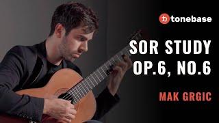 Mak Grgic - Sor Study Op. 6, No. 6 (Performance)