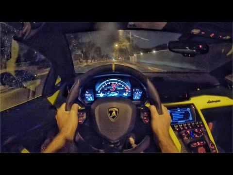 2020 Lamborghini Aventador SVJ Roadster POV Night Drive (3D Audio)(ASMR)