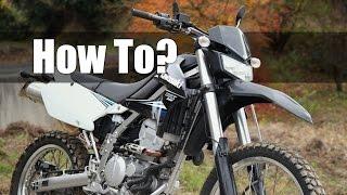【Kawasaki KLX250】 How To? ハンドル交換 【Custom】