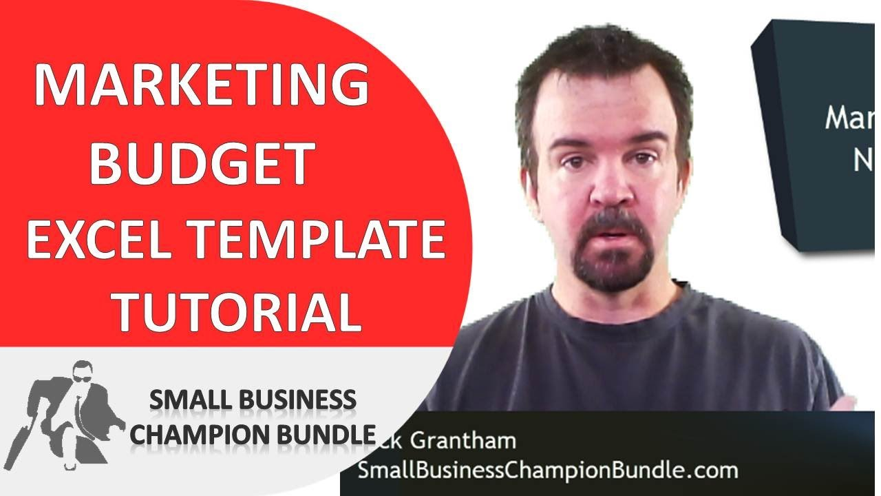 marketing budget excel template