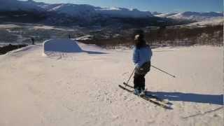 bjorli park edit   double backflip on one ski