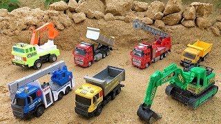Vehículos de Construcción para Niños - Camión volquete, Excavadora, Camión de bomberos