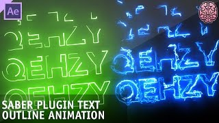 Tutorial: Saber Plugin Text Animation | After Effects by Qehzy