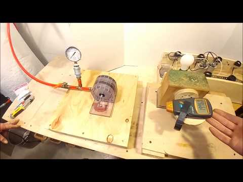 Testing Customers Dual Stage Tesla Turbine Model at 35000 RPM