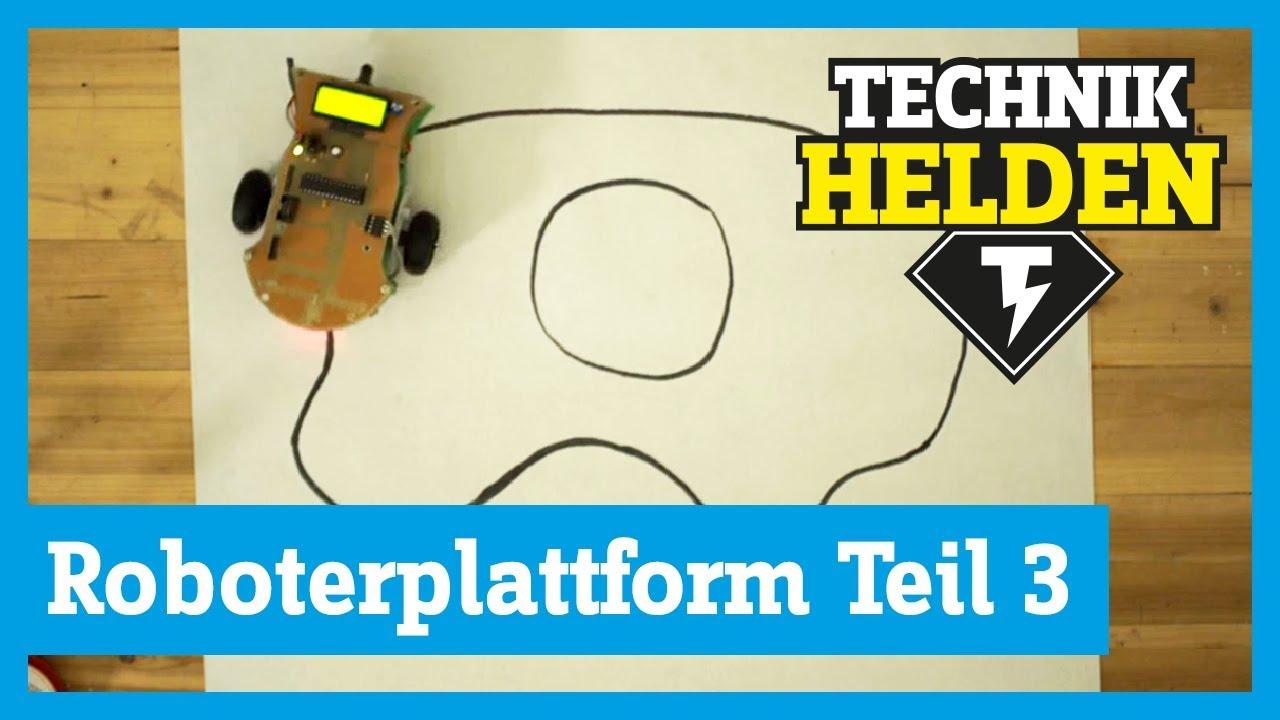 roboter selber bauen teil 3 autonomes fahren technikhelden von conrad youtube. Black Bedroom Furniture Sets. Home Design Ideas