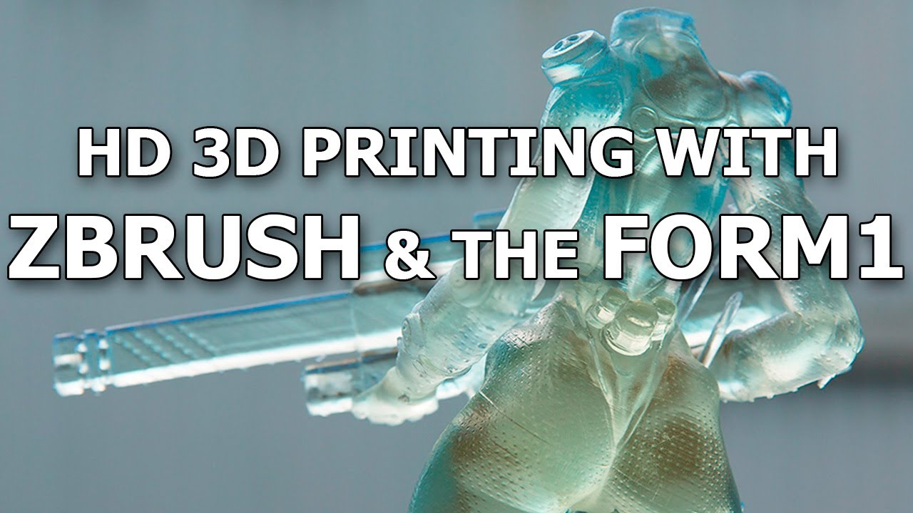 3D Printing in action with ZBrush and Form1