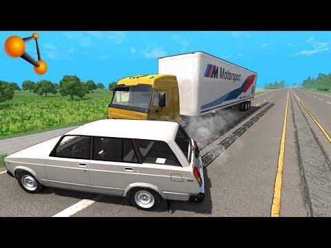 ПЬЯНЫЙ ДАЛЬНОБОЙЩИК НЕ ВИДИТ ПРЕГРАД! КАМАЗ УБИЙЦА | BeamNG.drive
