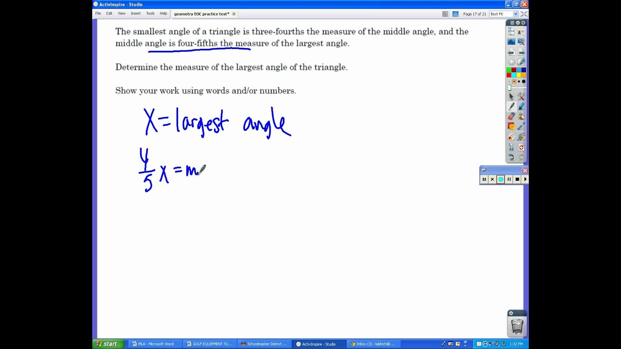 Geometry Eoc Exam Practice Test Avi