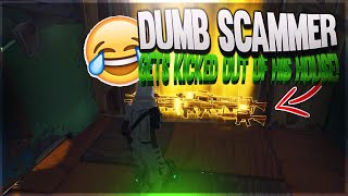 Dumb Scammer Gets Kicked Out Of His House! (Scammer Gets Scammed) Fortnite Save The World