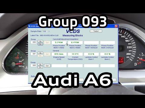 Группа 93 - проверка состояния цепей ГРМ Audi A6 C6 Vag-Com / Group 093 Checking The Timing Chains