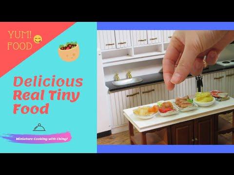 🍕 Mini burger steak miniature recipe  | Mini tiny real edible food | Dollhouse kitchen cooking