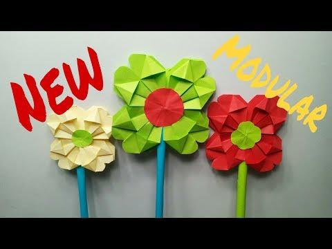 Origami Flower Instructions / Iris - YouTube | 360x480