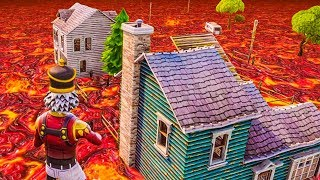 THE FORTNITE FLOOR IS LAVA CHALLENGE!