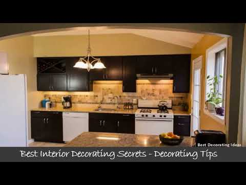 kitchen design white appliances dark cabinets | decorating picture