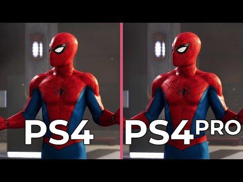 [4K] Marvel's Spider Man – PS4 vs. PS4 Pro Graphics Comparison & PS4 Frame Rate Test