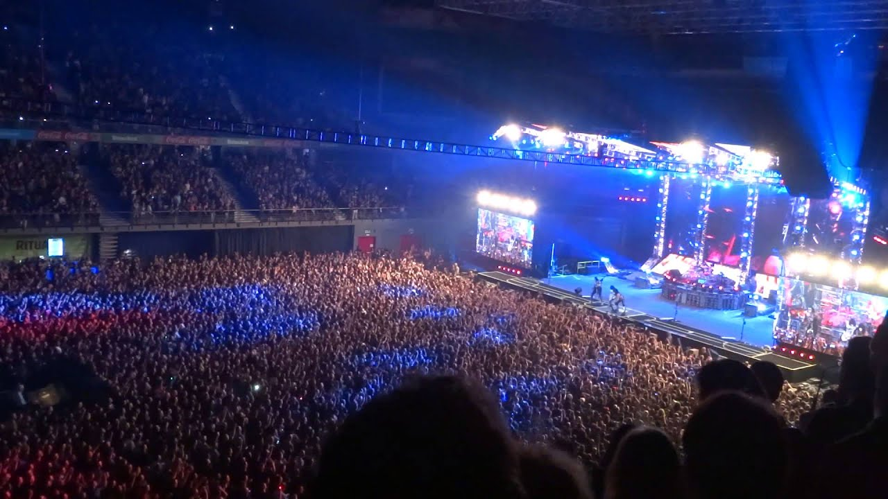 kiss barclaycard center madrid intro detroit rock
