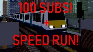 100 SUBS + Stepford County Railway SV - SAC Speed Run! (Roblox)