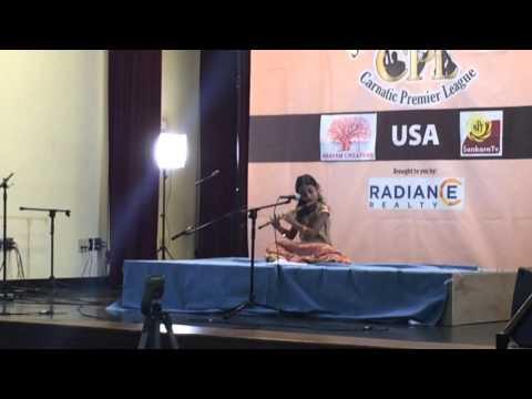 Jahnavi performing Raja Raja Radhite at Carnatic Premier League this morning.